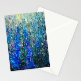 Secret Garden in Bloom Abstract  Stationery Cards