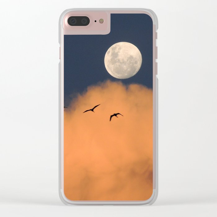 Moon cloud sky 7 Clear iPhone Case
