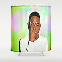 kendrick lamar Shower Curtains featuring Kendrick Lamar by Enna