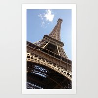 eiffel tower Art Prints featuring Eiffel Tower by caroline