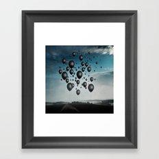 In Limbo - black balloons Framed Art Print