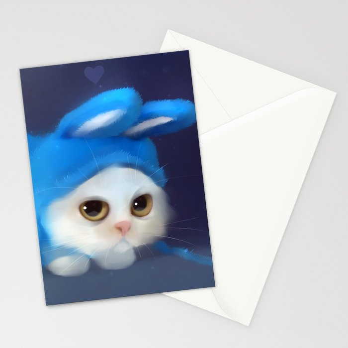Team Bunny Stationery Cards