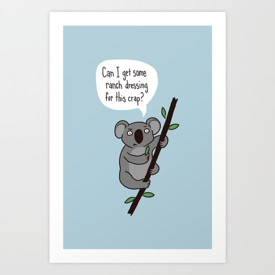 Koala Question Art Print