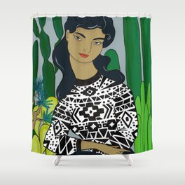 She will tell the story Shower Curtain