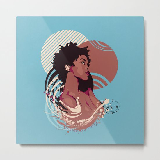 =Lauryn Hill///Killing Me Softly With This Song= Metal Print