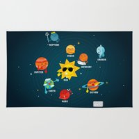 solar system Area & Throw Rugs featuring Solar System by Duck Duck Moose