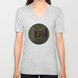 On a Narrow Corridor 0001b Unisex V-Neck