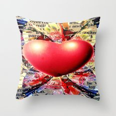 At the Very Heart of It. Throw Pillow