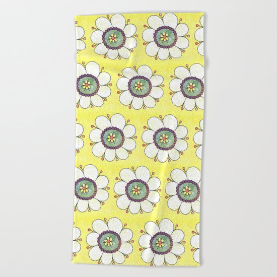 Crazy Daisies Beach Towel