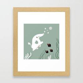 Ocean Elephant Framed Art Print