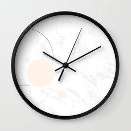 Marble & soft circles Wall Clock