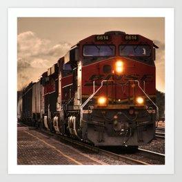 Flagstaff Freight  Art Print