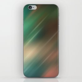 Turquoise brown blurred background iPhone Skin