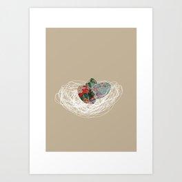 Eggs in a nest Art Print
