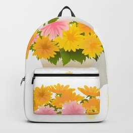 Bouquet of asters Backpack