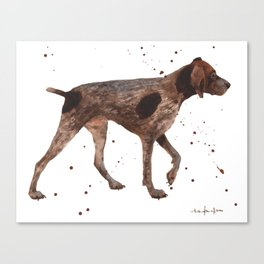 German Short-haired pointer, dog art, dog painting Canvas Print