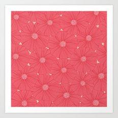 Hundreds of flowers Art Print