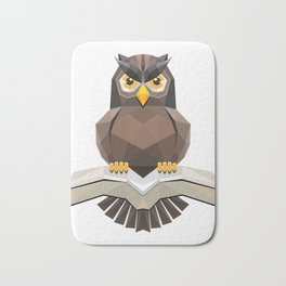 Vector, Brown Owl fly with the book Bath Mat