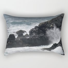 Waves Crashing on the Coast Rectangular Pillow