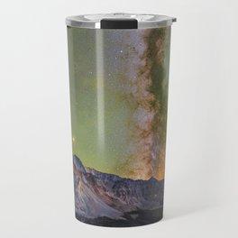 Milky way over sheep mountain Travel Mug