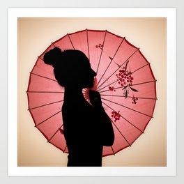 Jappo silhouette Art Print