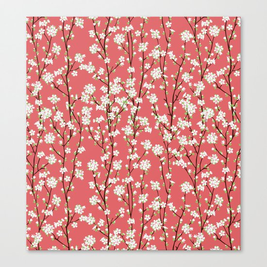 Go Orient Cherry Blossoms Canvas Print