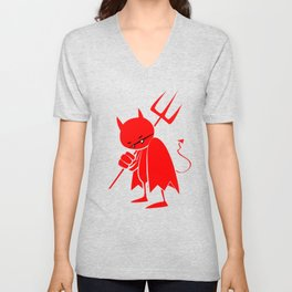 minima - sad devil Unisex V-Neck