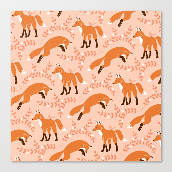 Socks the Fox - Dawn Canvas Print