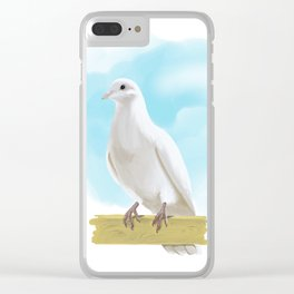 Hand Painting Dove Clear iPhone Case