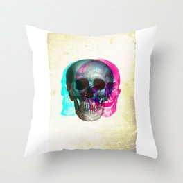 Stereoscopic Skull Throw Pillow