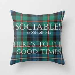 Sociables  Tartan Throw Pillow