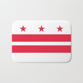 Flag of the District of Columbia - Washington D.C authentic version Bath Mat