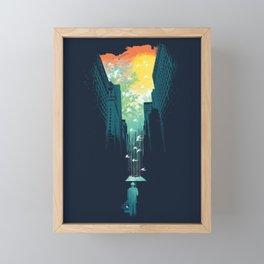 I Want My Blue Sky Framed Mini Art Print