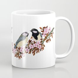 Chickadee Couple on Cherry Branch Coffee Mug