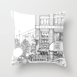 corner ba[K]ery dallas Throw Pillow