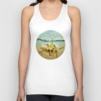 yellow submarine Tank Tops featuring yellow submarine in an octapuses garden by Vin Zzep