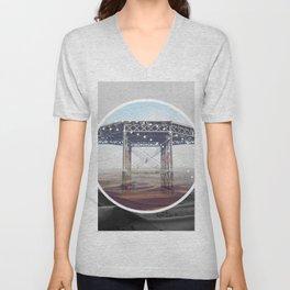 Surreal Bridge - circle graphic Unisex V-Neck