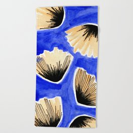 Falling Poppies Beach Towel