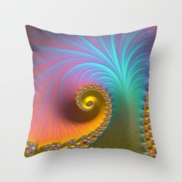Kapow! - Fractal Art  Throw Pillow