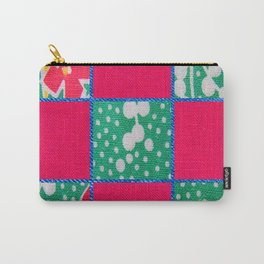 Pink & Teal print Carry-All Pouch