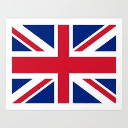 flag of uk- London,united kingdom,england,english,british,great britain,Glasgow,scotland,wales Art Print