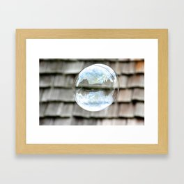 bubble wishes 2 Framed Art Print