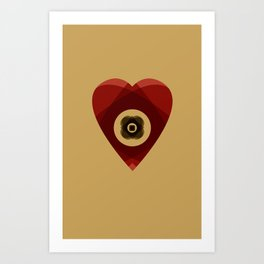 Heart of Layers Art Print