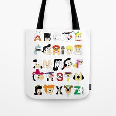 Child of the 60s Alphabet Tote Bag