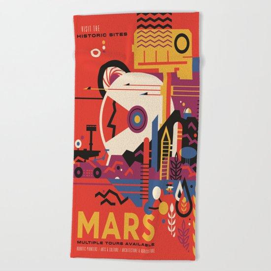 Mars Tour : Space Galaxy Beach Towel