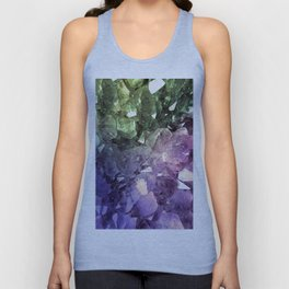 Two Tone Crystal Geode Unisex Tank Top