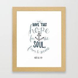 Hebrews 6:19 Framed Art Print