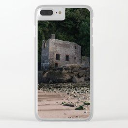 Elberry Cove Bath House Clear iPhone Case