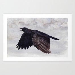 As the Crow Flies Art Print