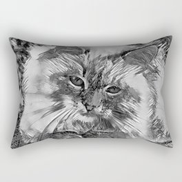 AnimalArtBW_Cat_20170907_by_JAMColorsSpecial Rectangular Pillow